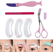 Load image into Gallery viewer, Eyebrow template brow stencil Class set cutter 4 in 1