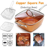 9.5 Inches Ceramic Non-Stick Pan Copper Square Pan
