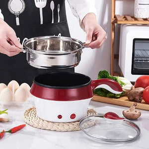 Mini Multifunction Electric Cooking Machine Frying Pan Double Layer