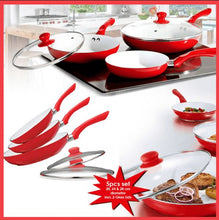 Load image into Gallery viewer, 5 pcs non-stick red ceramic fry pan