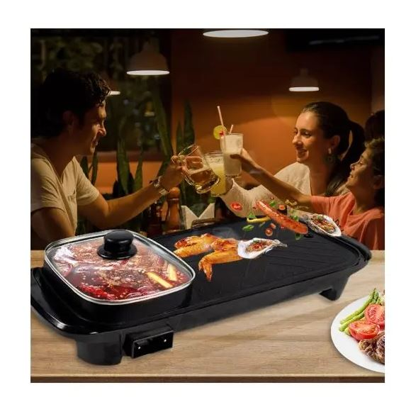 HOT SALE Multifunction Electric Grill and Hot Pot