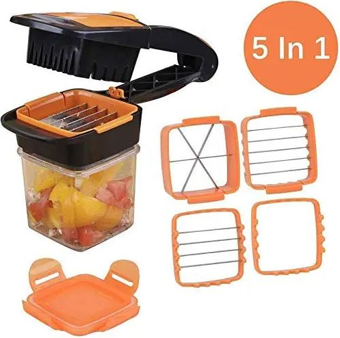 5 in 1 Multi-Function Slicer with Container Onion Cutter