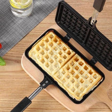 Load image into Gallery viewer, Rectangle Heart Shape Non-stick Metal Waffle Maker Pan Tool