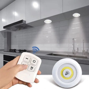 Dimmable LED Under Cabinet Light with Remote Control Stick-On Touch Tap Lamp LED Light (1Remote 3Lamp White)