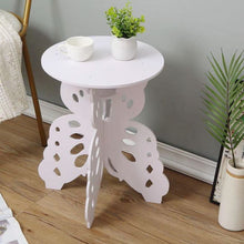 Load image into Gallery viewer, NEW Butterfly Wooden Side Tables round bedroom furniture coffee table bedside table