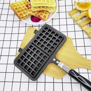 Rectangle Heart Shape Non-stick Metal Waffle Maker Pan Tool