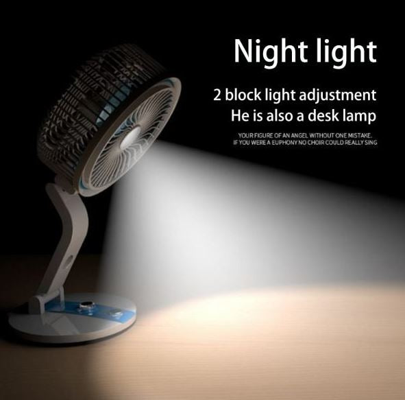 Rechargeable Fan Multifunctional Desk Lamp