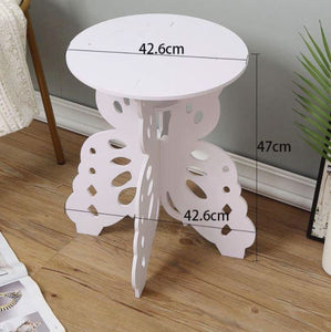 NEW Butterfly Wooden Side Tables round bedroom furniture coffee table bedside table