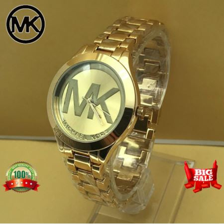 MK Watch For Women Pawnable Analog MK Ladies Watches MK Watch For Girls MK Watch Men Pawnable Gold