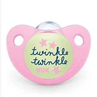 NUK Orthodontic Pacifier Pale Pink Twinkle Twinkle