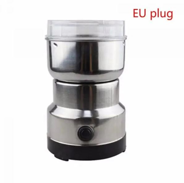 220V Electric Coffee Grinder Electric Mini Coffee Bean Nut Grinder Coffee Beans Multifunctional Home Coffe Machine Kitchen Tool
