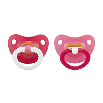 NUK Orthodontic Pacifier Pink and Red