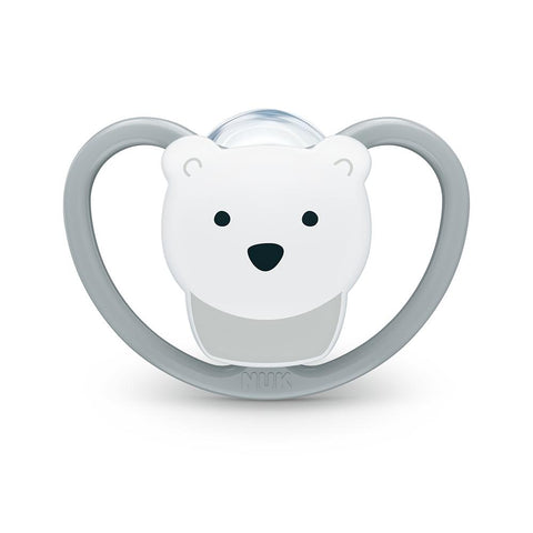 NUK Orthodontic Pacifier Gray Polar Bear
