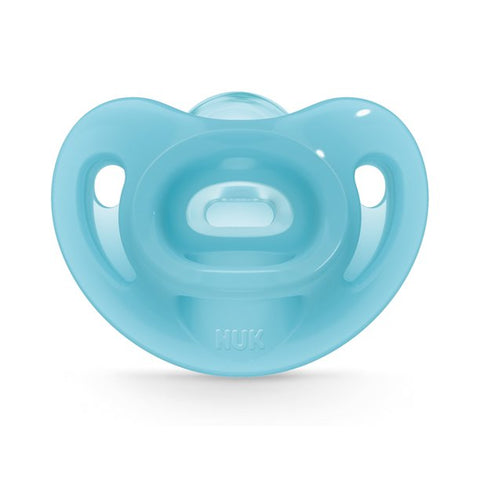 NUK Orthodontic Pacifier Gray and Sky Blue Bike