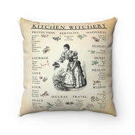 Kitchen witchery Spun Polyester Square Pillow