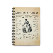 Load image into Gallery viewer, Kitchen Witchery Spiral Notebook - Ruled Line