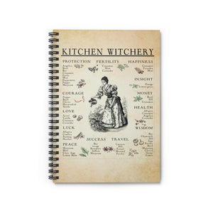 Kitchen Witchery Spiral Notebook - Ruled Line