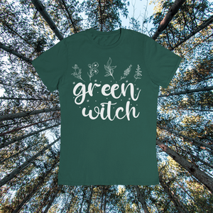 Green Witch Tshirt, Houseplant Shirt, Witchy Shirt, Plant Lover Clothing Gift, Crazy Plant Lady, Botanical Tee