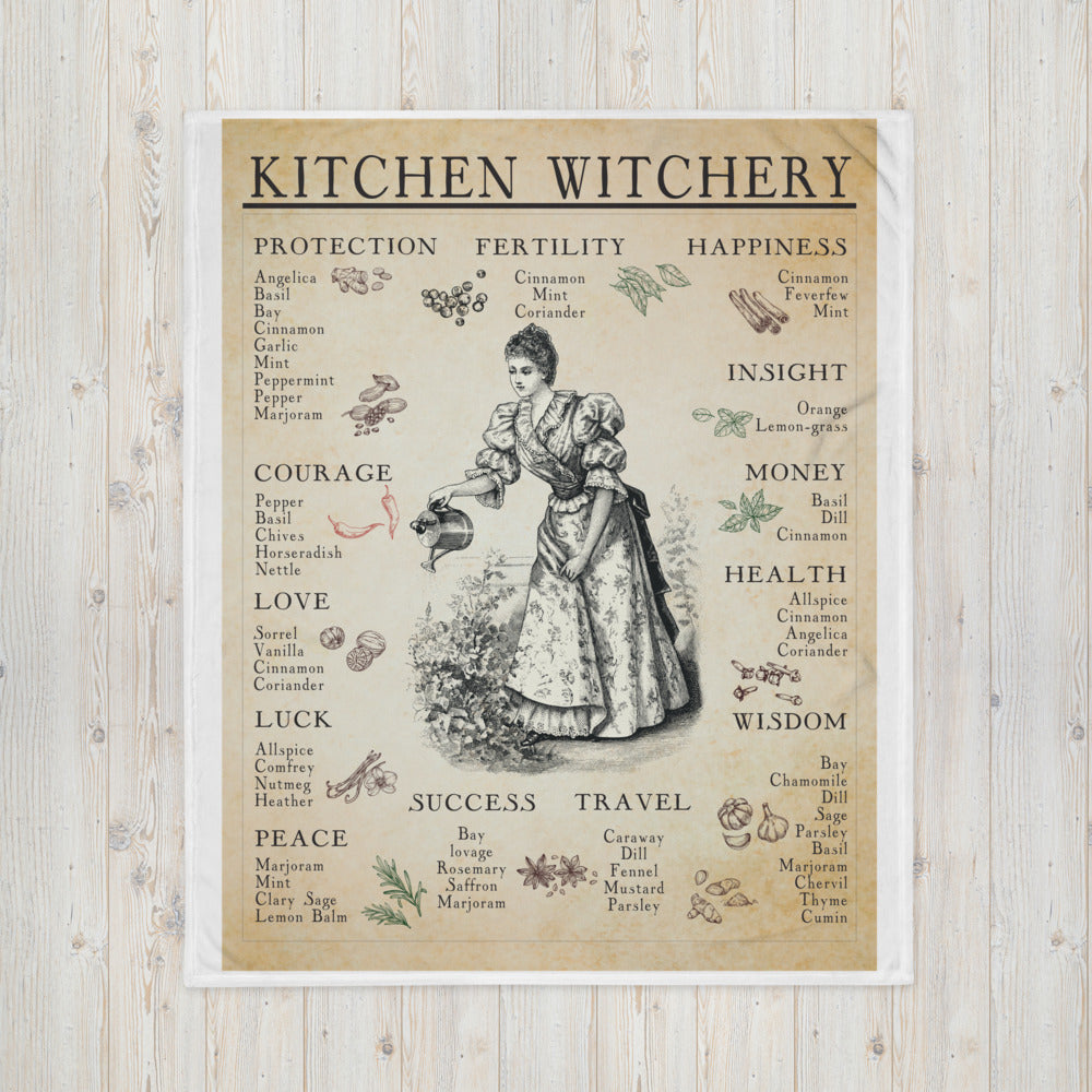 Kitchen Witchery Throw Blanket