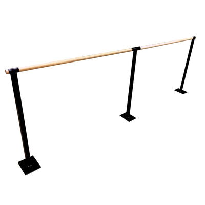 3 Metre Single Pole Fixed Floor Mounted Ballet Barre