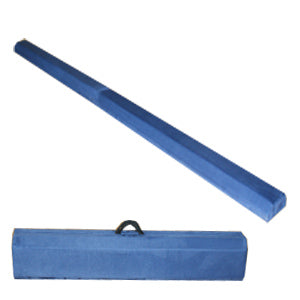 Royal Blue 8' Suede Folding Gymnastic Balance Beam