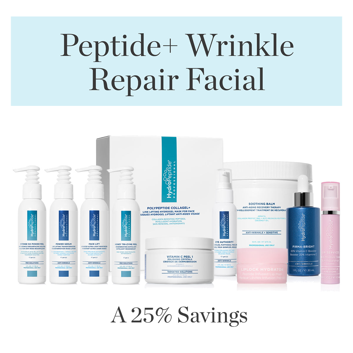 Peptide+ Wrinkle Repair Facial Bundle