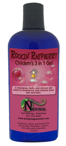 3 in 1 Kids Rockin Raspberry Bath Gel