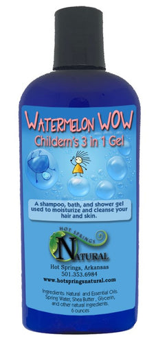 3 in 1 Kids Watermelon WOW Bath Gel