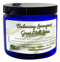 Load image into Gallery viewer, Balancing Lemongrass Goat Milk Lotion