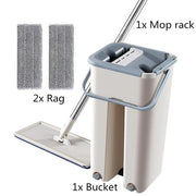 4 in 1 Multi-functional Hands-Free Mop wowstore 2 Rag Set
