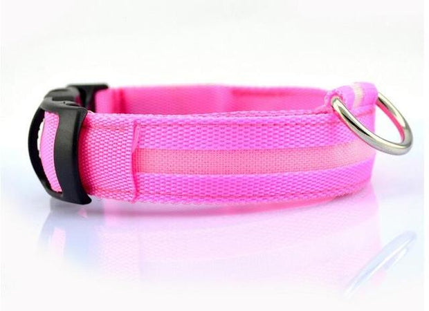 LED Pet Dog Collar wowstore Collar-Pink L