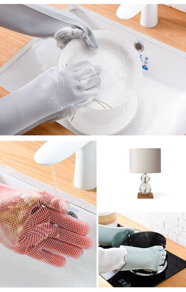Magic Silicone Dishwashing Gloves wowstore