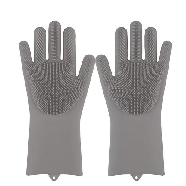Magic Silicone Dishwashing Gloves wowstore Gray