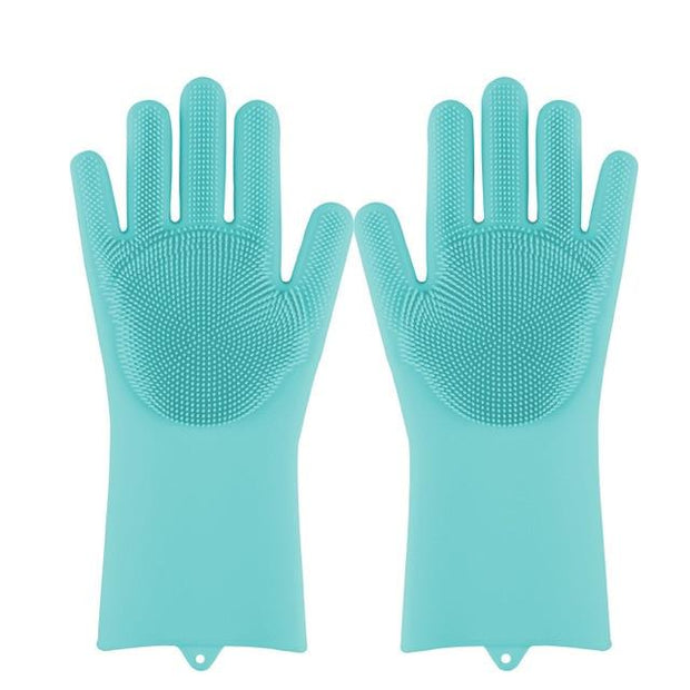 Magic Silicone Dishwashing Gloves wowstore SkyBlue