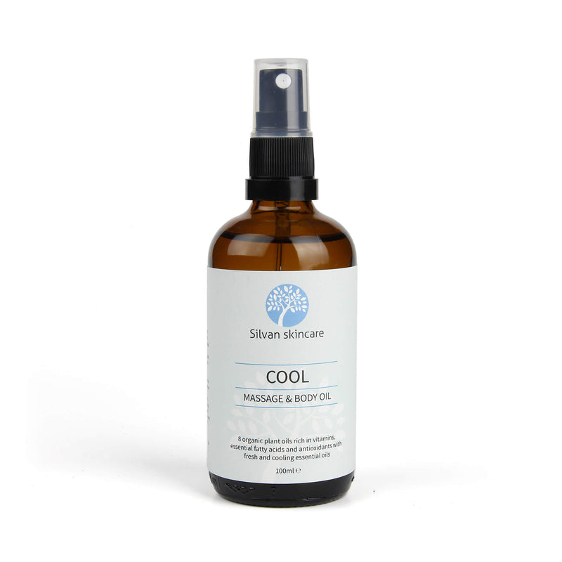 Cool Body Oil with fresh and cooling essential oils. Massage into the skin to ease muscle ache and over-use.