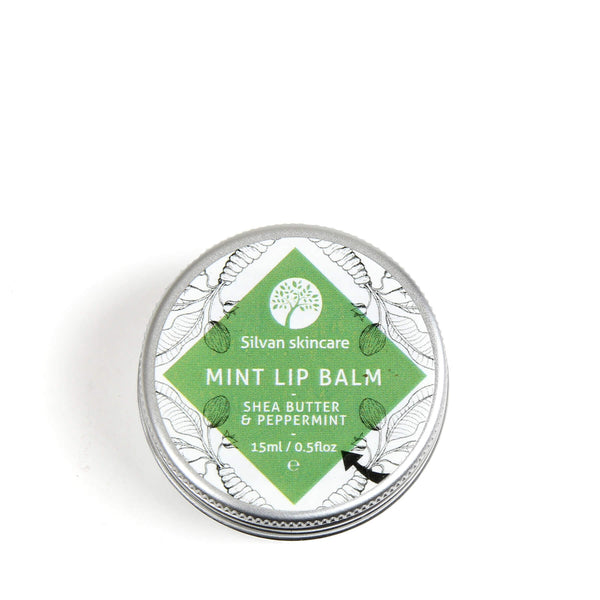 Silvan Skincare Mint Lip Balm with all natural, vegan ingredients