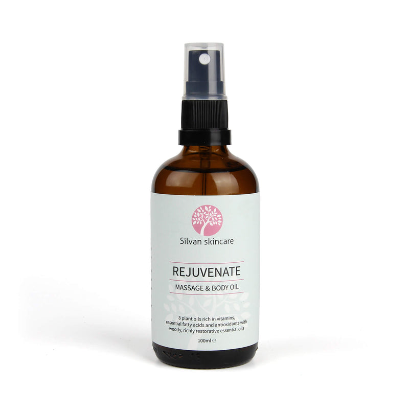 Silvan Skincare Rejuvenate Body Oil to nourish dry, scarred or mature skin.