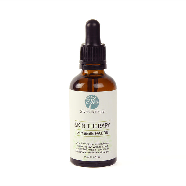 Silvan Skincare Skin Therapy Extra Gentle Facial Oil for very sensitive skin free from added essential oils to calm and soothe.
