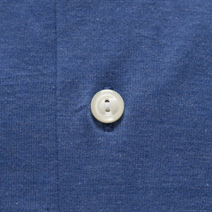 Blue Long Sleeve Jersey Polo Shirt