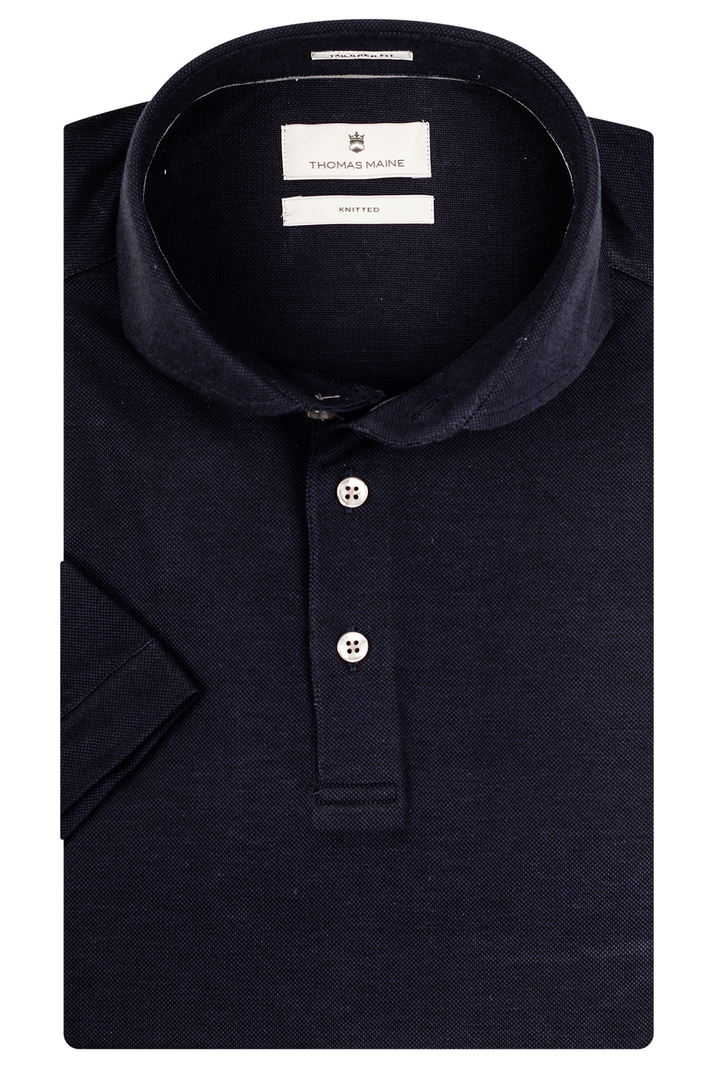 Navy Bari Collar Polo Shirt