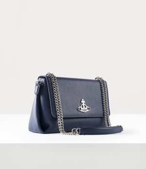 Windsor Blue Leather Crossbody