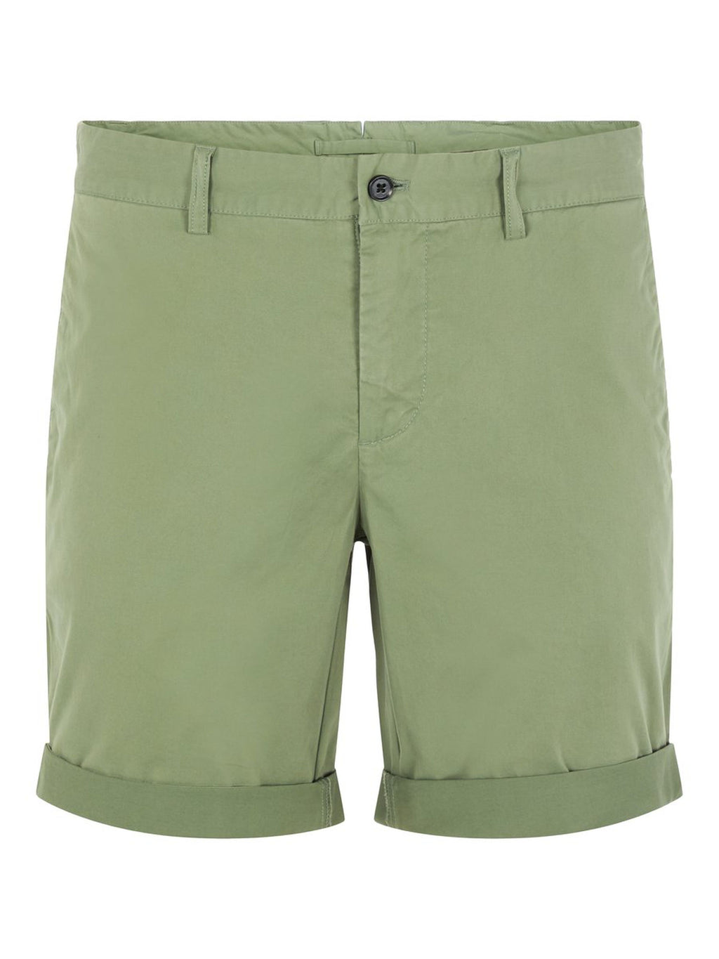 Nathan Sage Green Cotton Shorts
