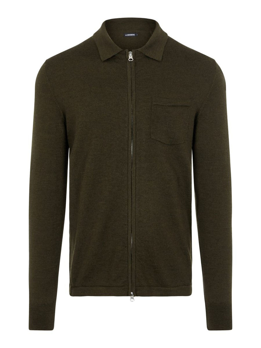 Nyle Moss Green Merino Zip Sweater