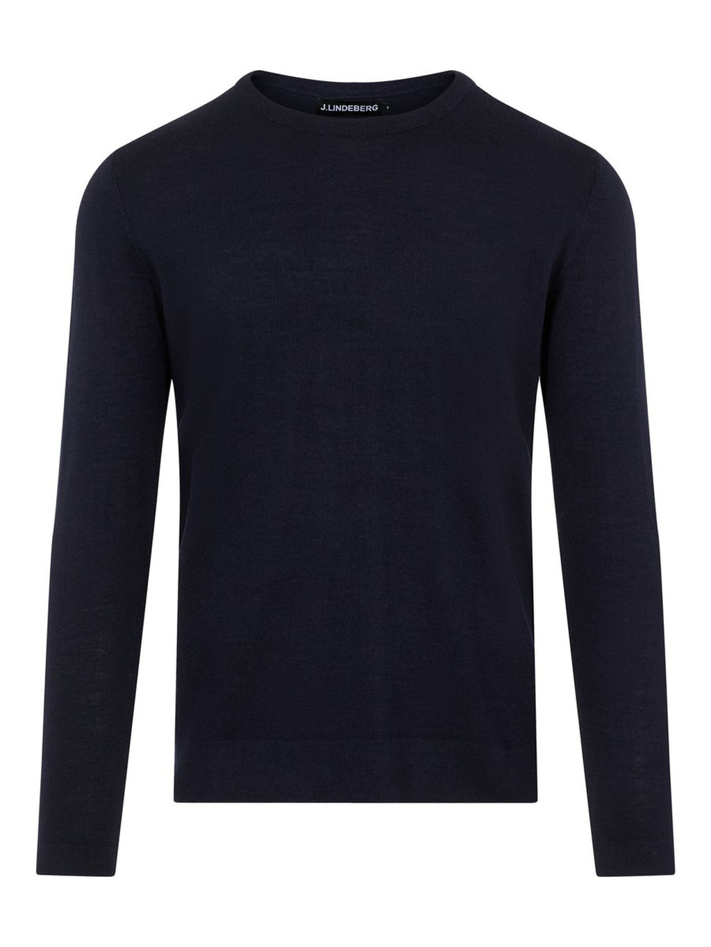 Nigel Navy Silk Wool Mix Sweater