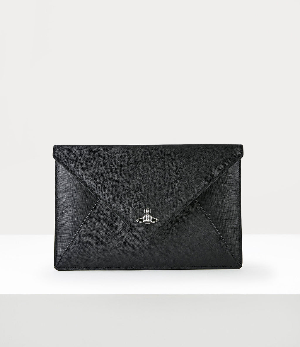 Victoria Envelope Clutch Black