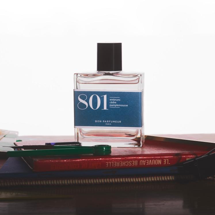 Eau de parfum 801: sea spray, cedar and grapefruit