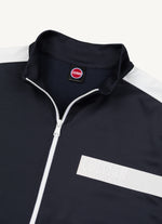 Nylon Track Top With Stripe Logo