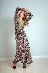 Siberia Print Luxe Robe Dress
