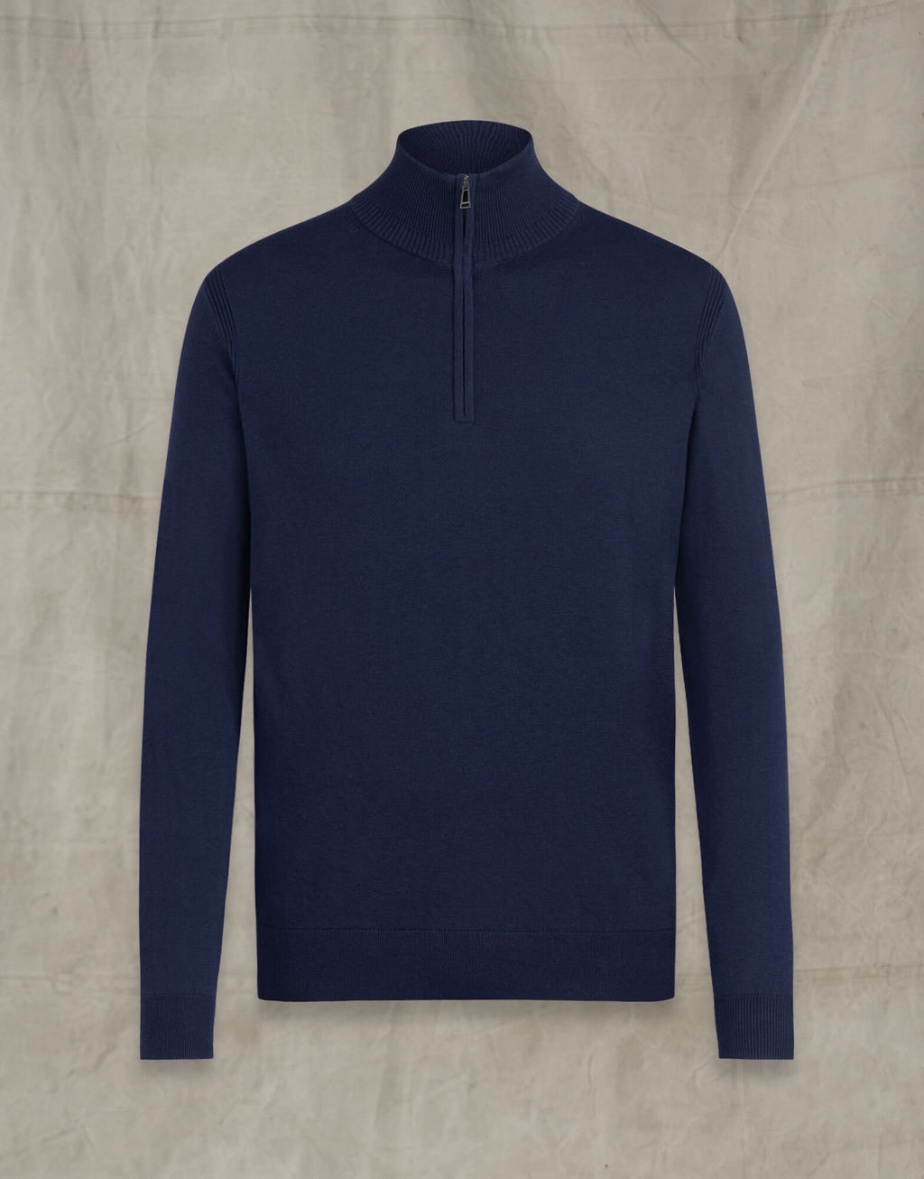 Bay Deep Navy Half Zip Jumper