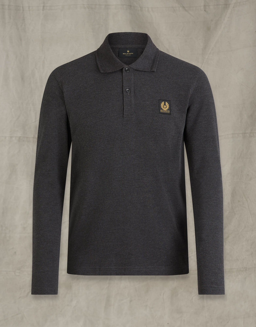 Belstaff Dark Grey Melange Long Sleeve Polo